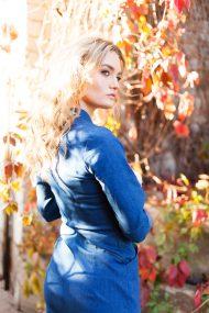 dzinsine suknele melyna baltic fashion