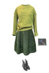 outfit skirt green
