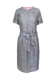 suknele pilka lininne su dirzeliu