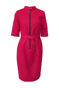 raudona linine suknele