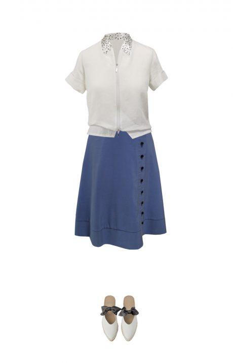 sijonas marskiniai outfit